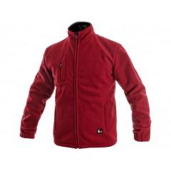Bunda OTAWA fleecová červená v.3XL