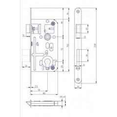 Zámok V8072/50/20mm   HOBES K-133 Zn P/L